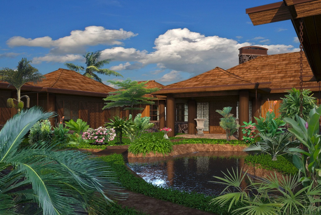 Hawaii home design for Hawaiian house plans